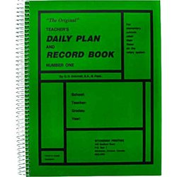 Teachers Daily Plan Book, Elementary No.1 Green