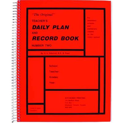Teachers Daily Plan Book, Secondary No.2 Red