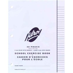 """Hilroy"" Exercise Book 8.5""x11"" Ruled 8mm 40 / pg."