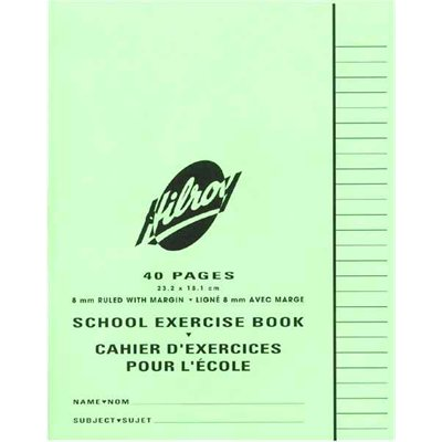 """Hilroy"" Exercise Book 7""x9"" Ruled 8mm 40 / pg."