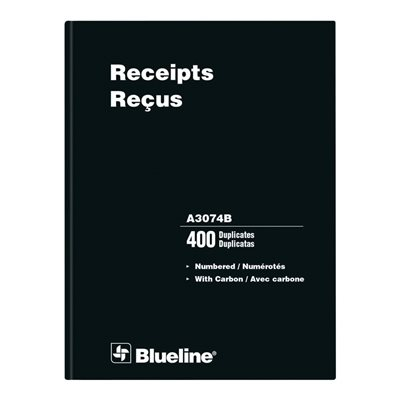 Numbered Receipt Book