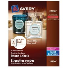 Printable Round Glossy Labels