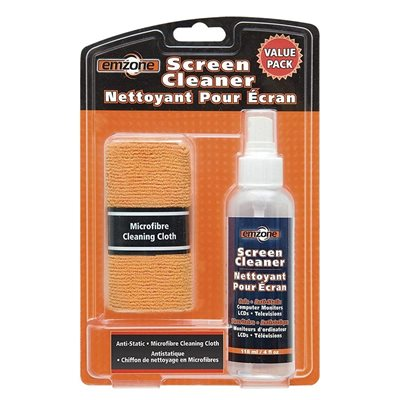 Screen Cleaner & Microfibre Cloth Pack